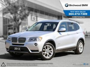2013 BMW X3 28i Navigation! Technology, Executive, Premium Pac