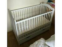 Nice baby cot bed with drawer