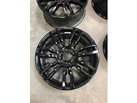 19 inch black BMW alloys rims to fit 3/4 series