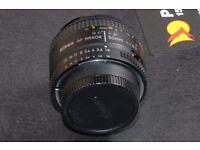Nikon 50 mm D lens f/1.8