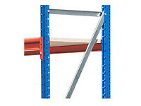 warehouse racking -bays for sale,2.5m h x 2.44 l x 90cm w. Euro rapid-span,blue and orange.