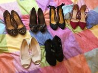 5 pairs of ladies shoes size 4 - 3 pairs brand new !!!