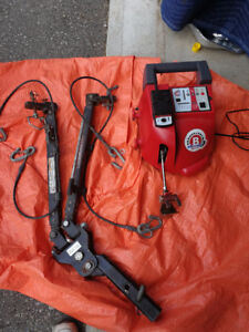RV  car tow bar and brake system