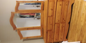 Solid wood dresser, mirror, armoire *new price