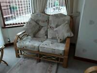 3 piece conservatory suite immaculate condition (1 double seat and 2 single seats)