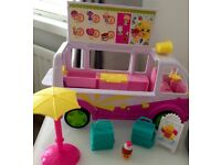 Shopkins toys ice cream truck and 147 Shopkins from season 1-7