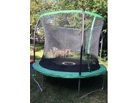 10ft trampoline enclosure included