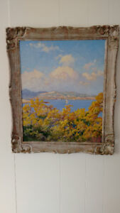1940's Spanish landscape oil painting