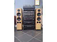 SONY AMP CD TUNER MINIDISC TAPE TURNTABLE SPEAKERS HIFI STEREO RECORD PLAYER