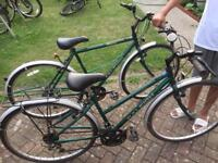 Raleigh pioneer classic his and hers bikes hybrid