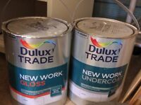 Dulux Trade gloss and undercoat paint - White