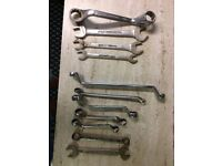 Hotchpotch various spanners Gordons, Britool, Halfords,