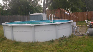 Pool with accessories