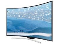 """Curved 40"""" SAMSUNG SMART TV UHD 4K- has three thin lines in screen - works perfectly otherwise"""