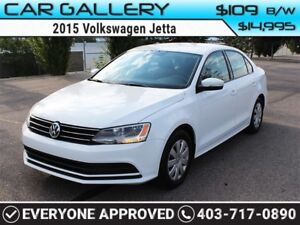 2015 Volkswagen Jetta w/BackUp Cam $109B/W YOU'RE APPROVED-QUICK