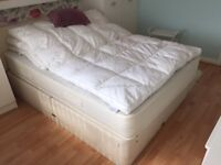 A Myers Double bed together with mattress