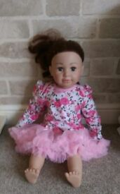 Large Baby Doll with Tutu Dress