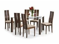 NEW Display Item Julian Bowen Cayman Dining Table & 6 Chairs CAN DELIVER View Collect Kirkby NG177