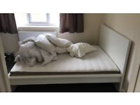 Double bed in good condition 135cm x 190 cm