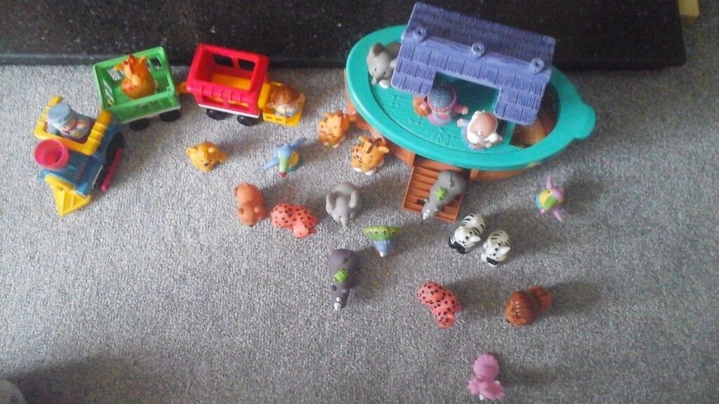 Little people noahs ark and trainin Fair Oak, HampshireGumtree - Little people noahs ark and train for sale £15 including Mr and Mrs Noah, 2 elephants, 2 rhinos, 2 zebra, 3 giraffes, 2 leopard/cheetah, 2 toucans, male and female lion and a peacock. Train and 2 carriages, driver and additional figure