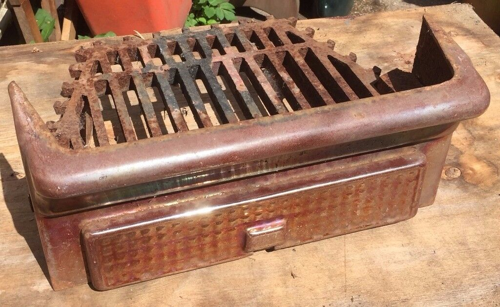 Vintage Antique Anodised Cast Iron Fireplace Grate Front | in ...