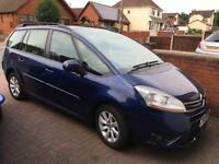 2008 Citroen c4 grand Picasso 1.6 hdi vtr turbo diesel auto blue 7 seater