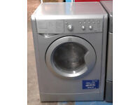 X038 silver indesit 6kg&5kg 1200spin washer dryer comes with warranty can be delivered or collected