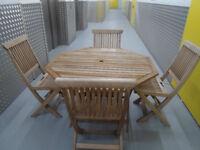 solid wood patio set ex condition