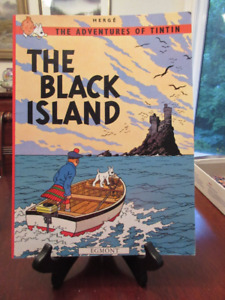 Adventures of Tintin x 2 bks Black Island & Tintin in America