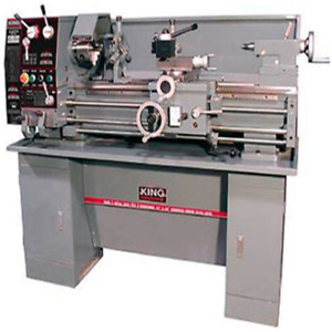 King Industrial Metal Lathe with Stand
