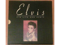 ELVIS HIS LIFE & MUSIC CD BOXED SET & BOOK LIMITED EDITION ROCK 'N' ROLL MEMORABILIA