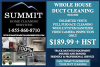 DUCT CLEANING $189.99! INCLUDES FURNACE CLEANING & SANITIZER