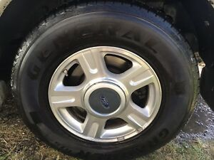 F150/Expedition OEM alloy wheels and almost new tires