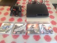 PS3 500gb console and games