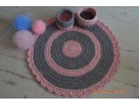 Handmade rug for baby room