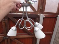 Two matching triple pendant ceiling lights - only £6 the pair. - KESSINGLAND