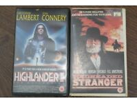 3 NICE VHS EX RENTALS NEVER SAY NEVER JAMES BOND HIGHLANDER 2 REDHEADED STRANGER BIG BOX