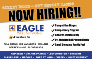 Now Hiring Experienced Workers!