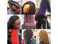 Afro / European Hairdresser ( Box braids/ Senegalese, Marley, Kinky Twists/ Crotchet Braids)
