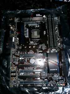 Gigabyte Z170XP-SLI motherboard with backplate