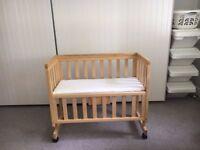 Bedside Cot - Wooden John Lewis