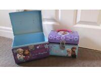 Elsa and anna storage boxes/ vanity boxes
