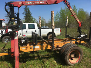 Wood loader with trailer