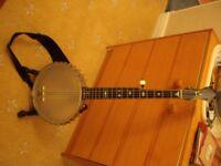5-String Banjo W A Cole Boston 1890s
