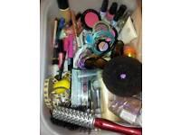 Cosmetics, costume jewellery, hair accessories