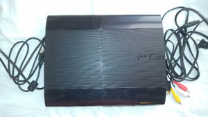 Sony PlayStation 3 Super Slim (CECH-4001C) + 8 games for sale
