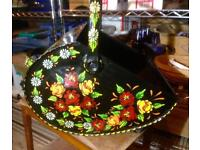Hand Painted Coal Scuttle