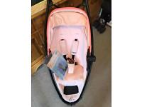 Quinny Zapp xtra 2 pink with bumper bar and rain cover