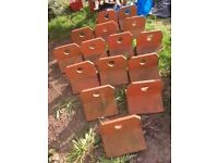 Crested Ridge Roof Tiles - 15 Red