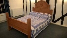 Solid Pine Vintage Double Bed Frame